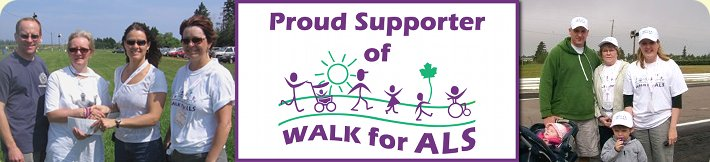 Proud supporter of Walk for ALS